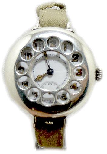 Trench Watch/Hamilton & inches Edinburgh Rare Trench Watch with shrapnel guard ww1