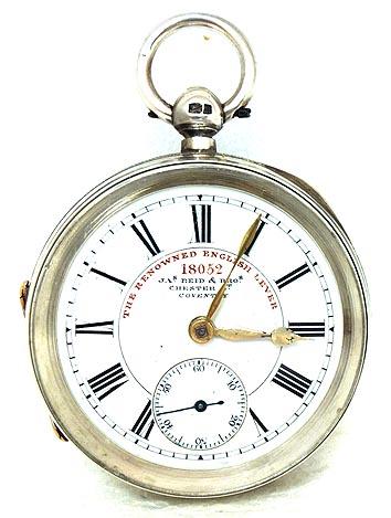 JAMES REID & BROS ENGLISH KEY WIND POCKET WATCH CIRCA 1903