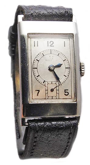 Omega deco stainless steel caliber t17 circa 1930s
