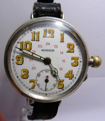 Windsor Silver Borgel Trench Wristwatch Circa 1915