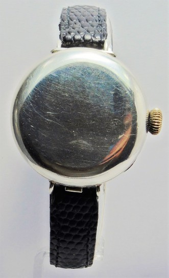 Silver Trench Hunter Wristwatch Circa 1913
