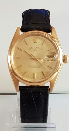 ROLEX 18K GOLD DATE AND AUTOMATIC PERPETUAL CIRCA 1968
