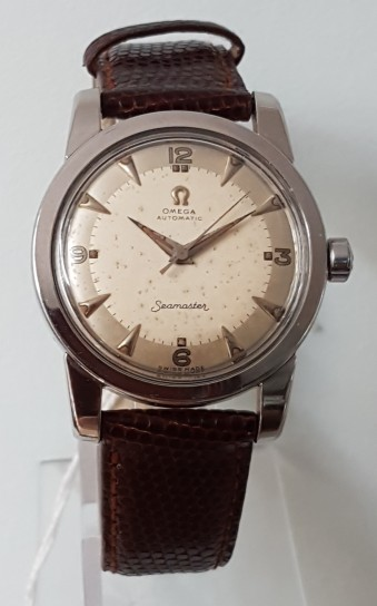 OMEGA SEAMASTER AUTOMATIC BUMPER STAINLESS STEEL CIRCA 1953