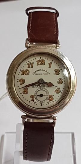 Rare Eberhard & Co desert trench watch silver screw on bezal circa 1921