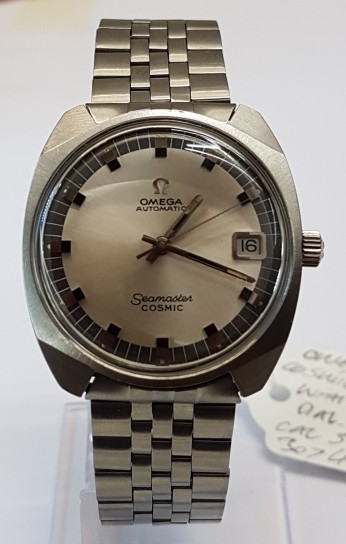 Omega Seamaster Cosmic Auto Date steel case and bracelet cir 1969