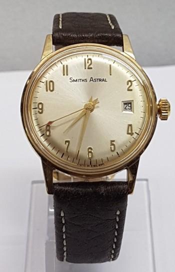 Smiths Rare Date 9ct gold Dress watch screw back circa 1970
