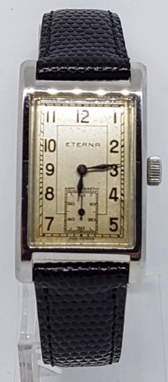 Eterna early waterproof deco oblong wrist watch circa 1930s