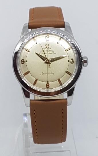 Omega Rare Chronometer bumper stainless steel circa 1951