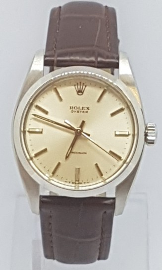 Rolex oyster precision 6426 stainless steel box and papers manual wind circa 1985/86