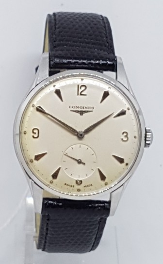 LONGINES DRESS WATCH LARGE 35MM STAINLESS STEEL DATED 1958
