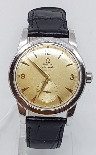 OMEGA SEAMASTER  AUTOMATIC BUMPER STAINLESS STEEL DATES 1952
