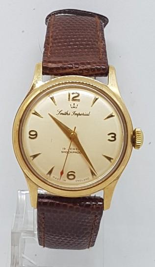 Smiths Imperial 9ct gold british original wrist watch circa 1961
