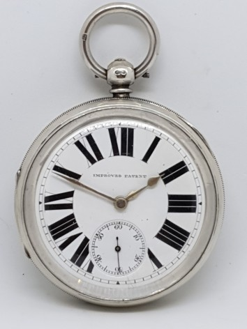 GIANT D.A.OLSWANG SUNDERLAND POCKET SILVER FACE WATCH FUSEE CIRCA 1893?