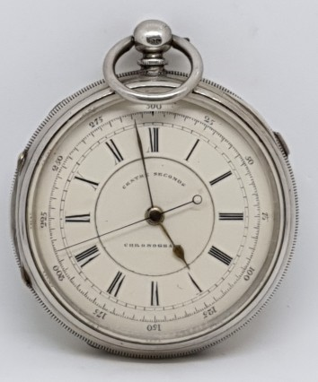 SILVER ENGLISH DOCTORS STOP AND START POCKET WATCH CIRCA 1890