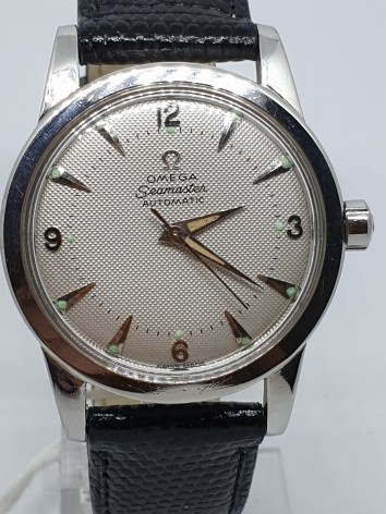 Omega Seamaster Bumper Honey Comb Dial Stainless steel circa 1950