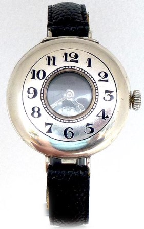 silver half hunter trench watch circa 1917